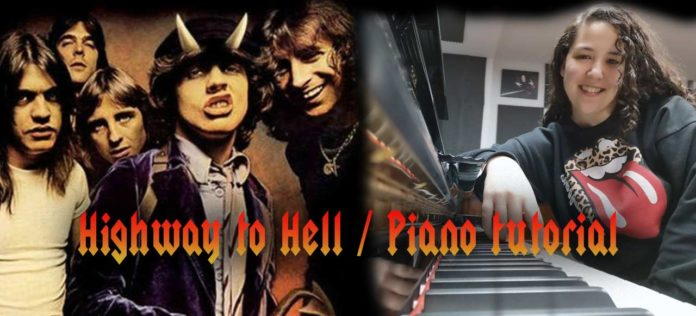 Aprende a tocar Highway to hell al piano