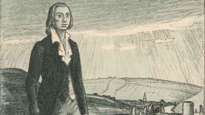 Friedrich Hölderlin y su piano con las cuerdas cortadas
